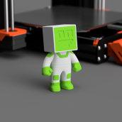 Filameno - Mascota para Impresoras 3D. Um projeto de 3D de Agustín Arroyo - 10.11.2020