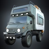 Unimog Camper - concept. A Automotive Design project by Diego Fernández - 11.10.2020