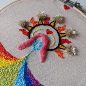 My project in Introduction to Punch Needle Embroidery course. A Crafts, and Embroider project by maria z - 11.11.2020