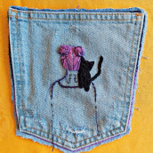 Peinado bordado . A Embroider, and Sewing project by Silvia GG Baschwitz - 11.11.2020