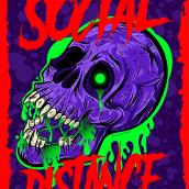 Social Distance. Un proyecto de Diseño, Ilustración, Diseño de personajes, Diseño gráfico, Arte urbano, Ilustración vectorial, Creatividad, Diseño de carteles, Ilustración digital, Concept Art, Ilustración textil, Brush painting y Diseño para Redes Sociales de federico capón - 15.11.2020