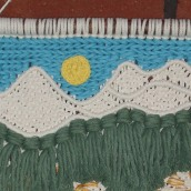Mein Kursprojekt: Einführung zu Makramee: Kreation eines dekorativen Wandteppichs. A Macrame project by Sylvia Haendschke - 11.15.2020