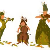 Mi Proyecto del curso: Fábrica de personajes ilustrados. Um projeto de Ilustração de Ainhoa Aramburu Urruzola - 16.11.2020