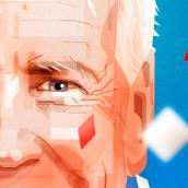 BIDEN. COVER FOR MAGAZINE. Un proyecto de Ilustración vectorial, Ilustración de retrato e Ilustración editorial de Sergio Picazo Ferro - 16.11.2020