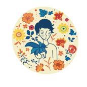 My project in Illustrated portraits with botanical elements course. Un projet de Illustration, Création de motifs et Illustration numérique de Kitty Wong - 21.11.2020