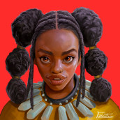 Retrato Morena. A Illustration, Character Design, Concept Art, Portrait Drawing, and Digital Drawing project by Felixantos - 11.22.2020