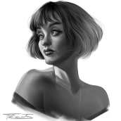 Retratos en grisalla 2. A Illustration, Character Design, Concept Art, and Digital Drawing project by Felixantos - 11.22.2020