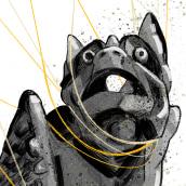 Gárgolas #inktober2020. A Illustration, and Digital Drawing project by Perdivel ilustra - 11.23.2020