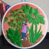 Mi Proyecto del curso: Introducción al bordado botánico. A Embroider project by Yanin Aguirre - 11.24.2020