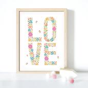 """""""Love"""" print and pattern made with love). Um projeto de Design gráfico e Ilustração digital de Sasha Milić - 17.04.2019"""