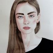 Mi Proyecto del curso: Retrato en acuarela a partir de una fotografía. Un projet de Illustration, Aquarelle , et Dessin de portrait de Anna Miró Solaní - 15.11.2020