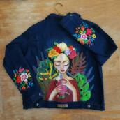 Mi Proyecto del curso: Diseño de moda: pintura y bordado sobre prendas. A Stickerei project by Claudia Guillen - 24.11.2020