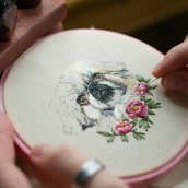 Pet Portraiture . A Embroider, and Fiber Arts project by Yulia Sherbak - 11.21.2020