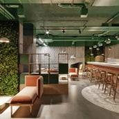 Kafe shop. A 3D, Interior Design, 3d modeling, Commercial Interior Design, and ArchVIZ project by Raluca Bobaru - 05.15.2020