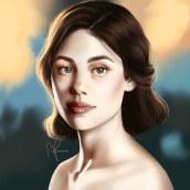 Light study - Digital Fantasy Portraits with Photoshop course. A Digital illustration, Portrait illustration, Portrait Drawing, Digital Drawing, and Digital Painting project by Karolina Pajnowska - 11.27.2020