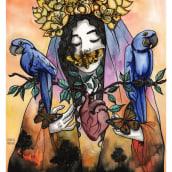 Mi Proyecto del curso: Cuaderno de artista para proyectos de ilustración. Un projet de Illustration, Aquarelle, Dessin artistique et Illustration d'encre de Karina - 28.11.2020