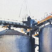 Planta industrial, 2020. Un projet de Aquarelle et Illustration architecturale de Gonzalo Ibáñez - 30.11.2020