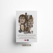 Cartel cinematográfico. HISTORIAS INCOMPLETAS . Un proyecto de Ilustración, Diseño gráfico, Cine y Diseño de carteles de Eva Cortés Jiménez - 30.11.2020