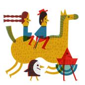 Google Doodle, día Nacional de Chile 2017. Un progetto di Illustrazione e Illustrazione editoriale di Paloma Valdivia - 30.11.2020