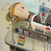 Bienal de Ilustración Latinoamericana. Un progetto di Illustrazione digitale di Cristian Turdera - 03.12.2020