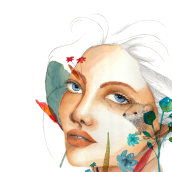 Illustrated Portrait in Watercolor course. A Illustration project by Vibeke Lien - 12.03.2020