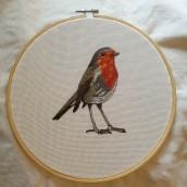 Mi Proyecto del curso: Pintar con hilo: técnicas de ilustración textil. Un proyecto de Bordado de julia.ma1995 - 07.12.2020