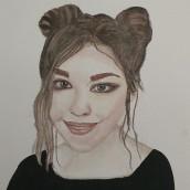 Mi Proyecto del curso: Retrato en acuarela a partir de una fotografía. Um projeto de Artes plásticas de anykary.km - 10.12.2020