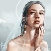 Mid-way project - Digital Fantasy Portraits with Photoshop course. A Digital illustration, Portrait illustration, Portrait Drawing, Digital Drawing, and Digital Painting project by Karolina Pajnowska - 12.10.2020