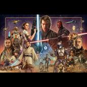 Star Wars Precuel Poster . Um projeto de Ilustração, Design de cartaz e Ilustração digital de Oscar Martinez - 12.12.2020