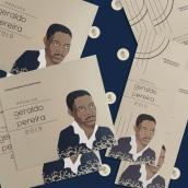 Medalha Geraldo Pereira [Identidade de Evento]. Um projeto de Ilustração, Design editorial e Design gráfico de Luiza Ferreira - 16.12.2020