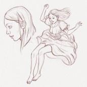 weightlessness. Um projeto de Design de personagens, Artes plásticas, Comic, Esboçado, Desenho, Ilustração digital, Concept Art e Desenho digital de Gaspar Satorres Gil - 20.12.2020