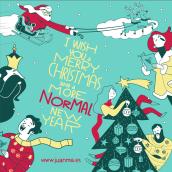 Os deseo una Feliz Navidad y un Año Nuevo normal. A Illustration, Motion Graphics und 2-D-Animation project by Juanma García Escobar - 20.12.2020