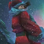 Santa Claus!. Un proyecto de Ilustración, Dibujo e Ilustración digital de Cstevenart - 21.12.2020