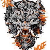 Fu Wolf. Um projeto de Ilustração e Ilustração digital de Daniele Caruso - 22.12.2020