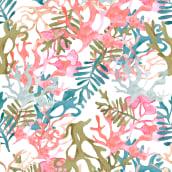 Meu projeto do curso: Desenho de estampados com a técnica do quincunx. Um projeto de Pattern Design, Pintura em aquarela, Estampagem e Ilustração têxtil de Alessandra Bellard - 28.12.2020