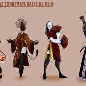 Mi Proyecto del curso: Las ladronas sobrenaturales de Asia. Un proyecto de Ilustración y Cómic de Ima GTM - 04.01.2021