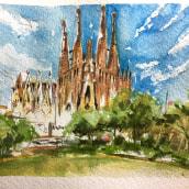 Mi Proyecto del curso: Paisajes urbanos en acuarela. Un progetto di Belle arti di Jorge Rodríguez Vázquez - 09.01.2021