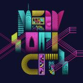 The City that Never Sleeps. Um projeto de Design, Ilustração, Design gráfico, Tipografia, Lettering, Lettering digital e Desenho tipográfico de Jackie Noëlle - 02.01.2021