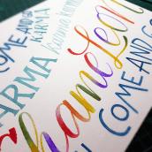 Mi Proyecto del curso: Caligrafía con pinceles de agua para principiantes. Un proyecto de Lettering, Pintura a la acuarela, Caligrafía con brush pen, H y lettering de Karla Medina - 14.01.2021