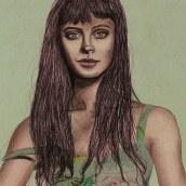 Mi Proyecto del curso: Retrato ilustrado con Procreate. Un proyecto de Ilustración de retrato de Olivia Suero - 14.01.2021