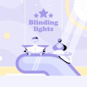 Blinding Lights. A Design, Animation, Character Design, Character animation, and 2D Animation project by David Pou Fernández - 03.28.2020