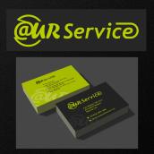 @UR Service_Logo+Business Card. Um projeto de Design gráfico e Design de logotipo de Pier Alessi - 21.01.2021