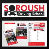 Soroush Driving School. Um projeto de Design editorial, Design gráfico e Design de logotipo de Pier Alessi - 21.01.2021
