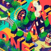 Mi Proyecto del curso: Ilustración vectorial isométrica desde cero. A Illustration, Graphic Design, Vector Illustration, Creativit, Drawing, Digital illustration, Watercolor Painting, Digital Design, and Digital Drawing project by Claudia Silva - 01.25.2021