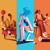 Women & Sport. Un proyecto de Ilustración, Ilustración vectorial y Dibujo de Ricardo Polo López - 26.01.2021
