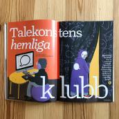Editorial illustrations: Språktidningen. Un progetto di Illustrazione, Illustrazione digitale e Illustrazione editoriale di Emma Hanquist - 28.01.2021