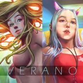VERANO. Un proyecto de Diseño de personajes, Ilustración digital, Dibujo digital y Pintura digital de Cstevenart - 02.02.2021