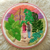 My project in Introduction to Botanical Embroidery course. Un projet de Artisanat de Marie ROUSSEL - 02.02.2021