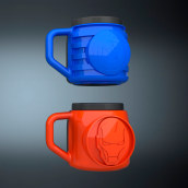 Tazas Avengers. A Design 3D project by Diego Fernández - 02.03.2021