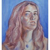 My project in Artistic Portrait with Watercolors course. Un progetto di Brush painting di koutna.marianna - 03.02.2021